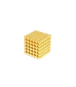 Kulki magnetyczne GIFT WORLD Neocube, 216 szt., 5 mm, złote-Gift World