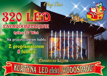 Kurtyna świetlna MULTIMIX, 320 LED, 2,5x 2,5 m, nr 1801 - Multimix