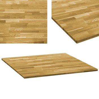 Kwadratowy blat vidaXL do stolika z drewna dębowego, 23mm, 70x70cm-vidaXL