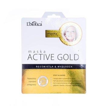 L'Biotica, maska hydrożelowa Active Gold, 25 g-L'Biotica