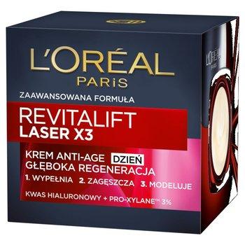 L'oreal Paris, Revitalift Laser X3, krem Anti-Age głęboka regeneracja na dzień, 50 ml-L'oreal Paris
