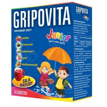 Labovital, Gripovita Junior, suplement diety dla dzieci 3+, 10 saszetek-Labovital
