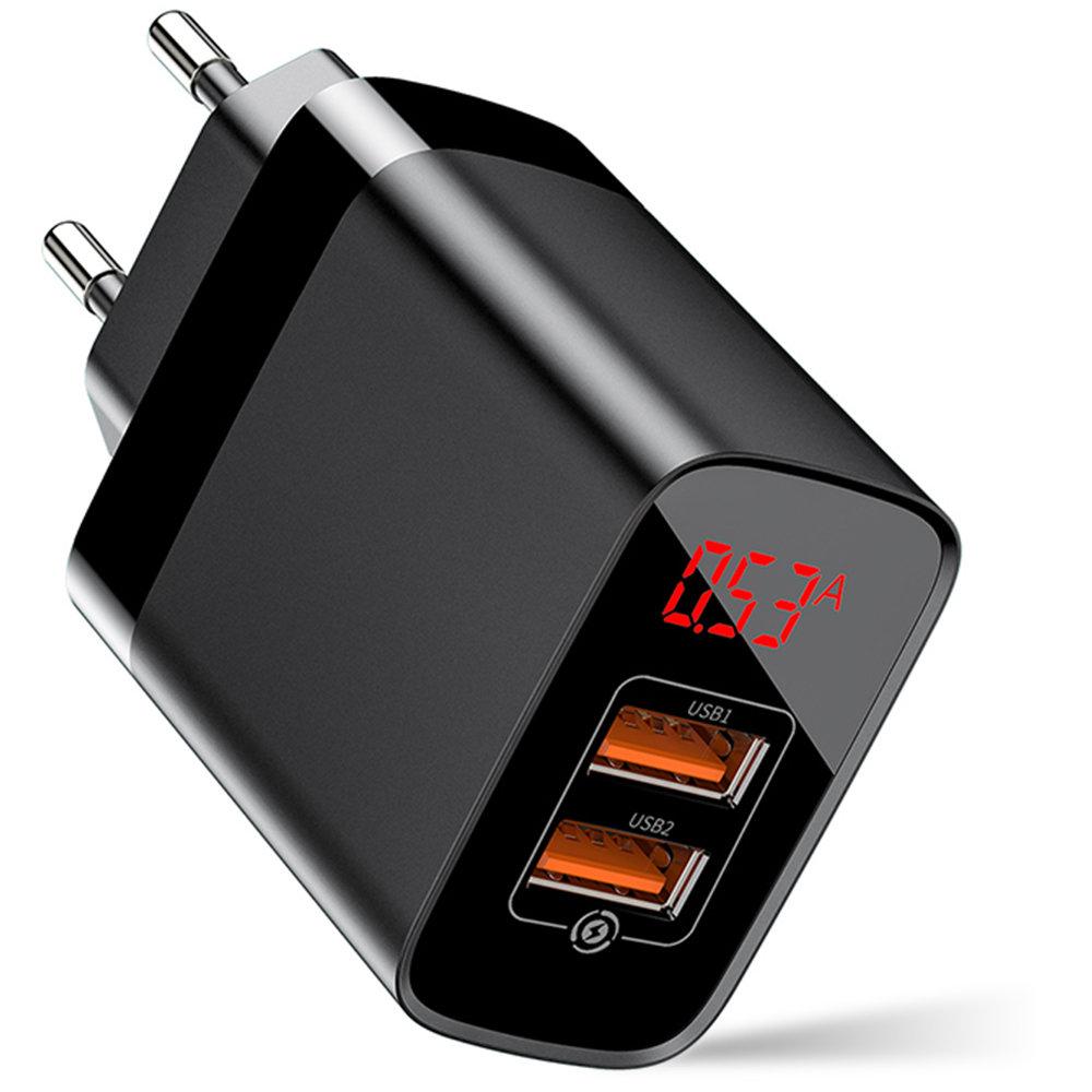 Ładowarka sieciowa BASEUS Mirror Lake Quick Charge 3.0, 3 A, 2 x USB