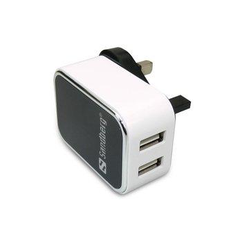 Ładowarka sieciowa SANDBERG SB440-58, 3.4 A, 2 x USB-Sandberg
