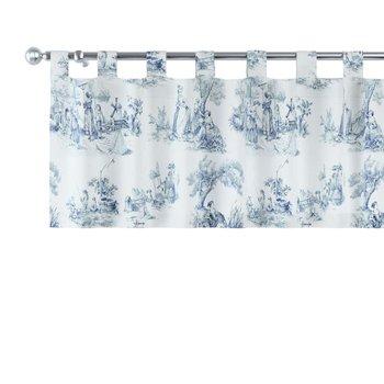 Lambrekin na szelkach, tło ecru, niebieskie postacie, 260 × 40 cm, Avinon-Dekoria