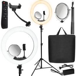 Lampa Pierścieniowa Selfie Makijażu aż 75W 45cm 2m 12260