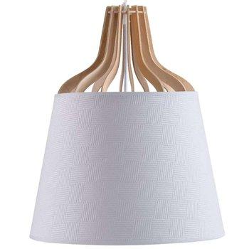 LAMPA wisząca KET756 skandynawska OPRAWA metalowy ZWIS abażurowy biały-KET