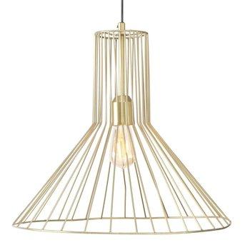 Lampa wisząca ściemniana, złota, 45x48 cm-DekoracjaDomu.pl