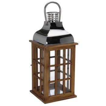 Lampion-latarnia, brązowy, 48x20x20 cm