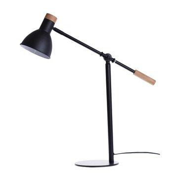Lampka biurkowa DUWEN Taastrup, czarna, E27-Duwen