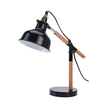 Lampka nocna na biurko, czarna
