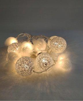 Lampki cotton balls kule pompony 10 LED-CORTINA