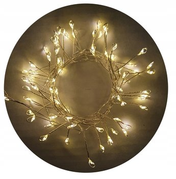Lampki druciki choinkowe 80 LED na baterie - biały-CORTINA