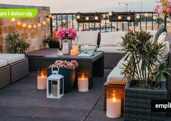 Lampki, lampiony i oświetlenie na balkon, dzięki którym stanie się klimatyczny