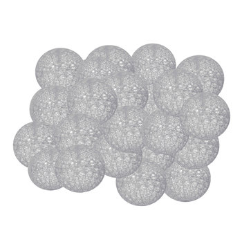 Lampki SPRINGOS CL0038 Cotton balls, 20xLED, 4,1 m, ciepłe białe, szare-Springos