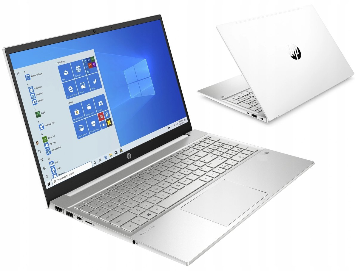 Laptop HP Pavilion 15.6FHD R5 16GB SSD512GB W10, biały