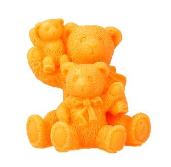 LaQ, Happy Soaps, mydełko glicerynowe Rodzinka-Trzy Misie - pomarańczowe, 70 g-LaQ