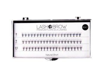 Lash Brow, jedwabne kępki do rzęs Natural Short, 60 szt.-Lash Brow