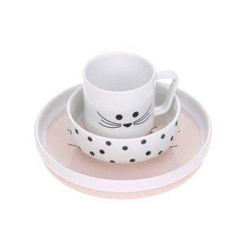 Lassig Komplet naczyń z porcelany Little Chums Mysz-Lassig