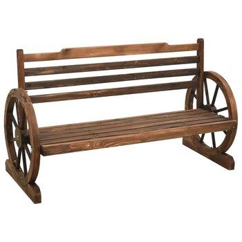 Ławka ogrodowa, 112 cm, lite drewno jodłowe-vidaXL