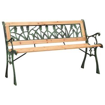 Ławka ogrodowa, 122 cm, żeliwo i lite drewno jodłowe-vidaXL
