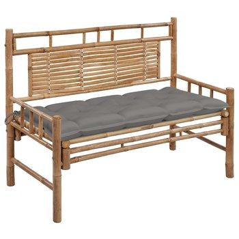 Ławka ogrodowa z poduszką, 120 cm, bambusowa-vidaXL