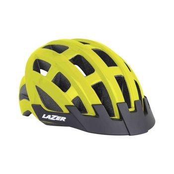 Lazer, Kask rowerowy, Compact, żółty, rozmiar uniwersalny-Lazer