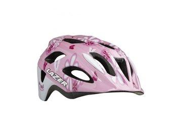 Lazer, Kask rowerowy, P'Nut pink super girl+ siatka, różowy, rozmiar M-Lazer