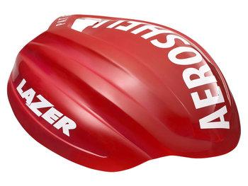 Lazer, Nakładka na kask, Aeroshell Z1, biało-czerwony, rozmiar S-Lazer