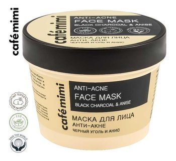 Le Cafe de Beaute Kafe Krasoty, Cafe mimi Anti-Acne, maska do twarzy, czarny węgiel i anyż, 110 ml-Le Cafe de Beaute Kafe Krasoty