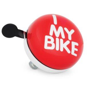 Le Grand, Dzwonek rowerowy, XXL Gong 80 I Love My Bike, czerwony-Le Grand