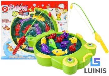 Lean Toys, gra zręcznościowa łowienie rybek wędkarz duży staw-Lean Toys