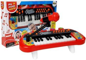 Lean Toys, instrument muzyczny Keyboard Pianinko, czerwony-Lean Toys