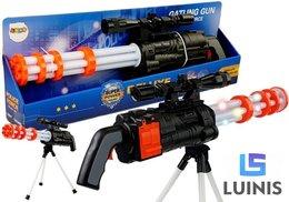 Lean Toys, karabin snajperski na baterie działko obrotowe policyjne 62 cm