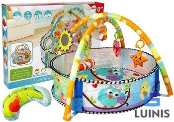 Lean Toys, mata basenik z piłkami dla niemowląt grzechotki-Lean Toys