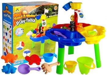 Lean Toys, piaskownica/stolik z foremkami Piraci -Lean Toys