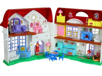 Lean Toys, rozkładany domek dla lalek Happy Family-Lean Toys