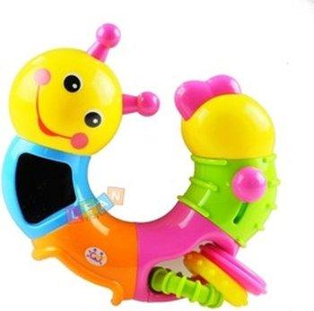 Lean Toys, zabawka wielofunkcyjna Grzechotka gąsienica-Lean Toys
