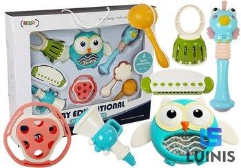 Lean Toys, zestaw zabawek edukacyjnych dla niemowląt instrumenty gryzak grzechotka-Lean Toys
