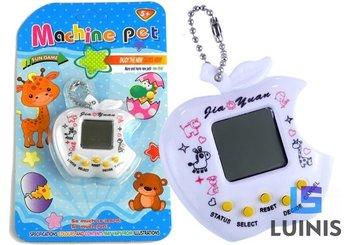 Lean Toys, zwierzątko elektroniczne tamagotchi kultowe białe-Lean Toys