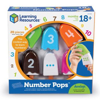 Learning Resources, zestaw do nauki liczenia i poznawania kolorów, Lody na patyku, 20 sztuk-Learning Resources