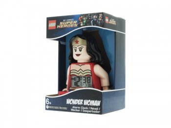 LEGO Super Heroes, budzik zegar Wonder Woman, 9009877-ClicTime