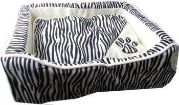 Legowisko dla psa lub kota EMAKO Wild Animals, M, czarno-biały, 16x44x34 cm.-Emako