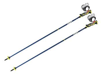 Leki, Kijki narciarskie, Carbon 14S 3D, Blue Metalic Neon Yellow, 120cm-Leki