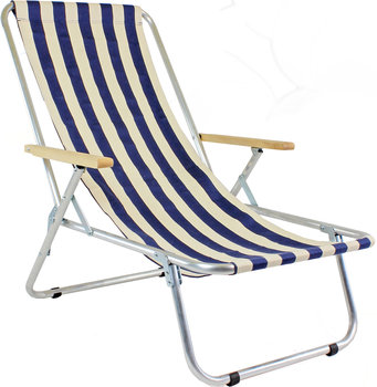 Lekki leżak plażowy, aluminiowy, max 120 kg - tradycyjny-e-sezon