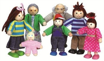 Lelin, Lalki do domku dla lalek - rodzinka-Lelin