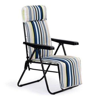 Leżak fotel ogrodowy składany plażowy regulowany z miekką poduszka ModernHome-Modernhome