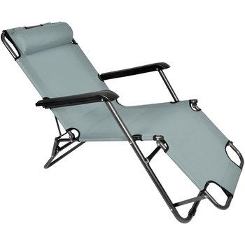 Leżak ogrodowy składany krzesło plażowe Ibiza ciemnoszary-SEVERNO Garden