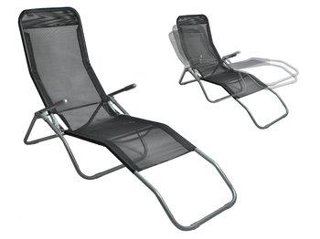 Leżak Plażowy Fotel Ogrodowy Składany Grawitacyjny-Iso Trade