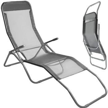 Leżak Plażowy Fotel Ogrodowy Składany Mocny 130kg  12041-Iso Trade